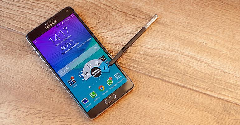 Samsung Galaxy Note 4 y su uso con TouchWiz