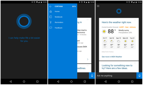 Cortana beta android destacada