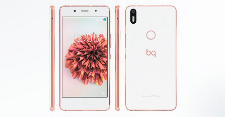 bq Aquaris X5 Plus blanco-oro rosa