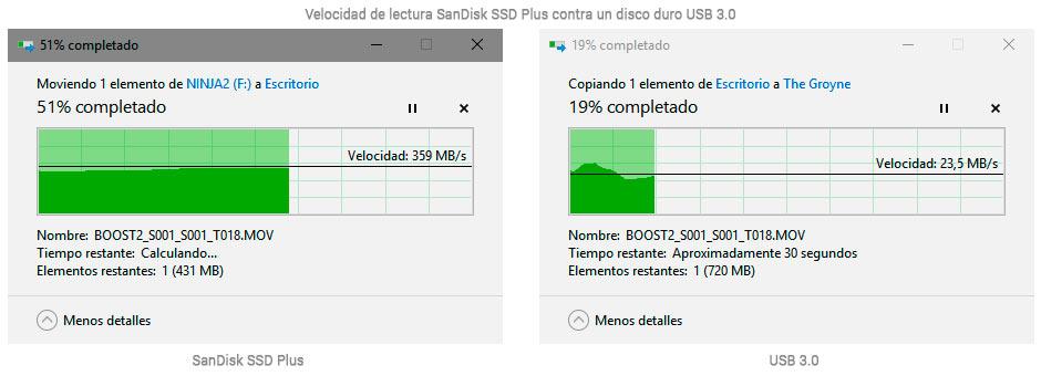 SSD vs Disco Duro USB 3.0