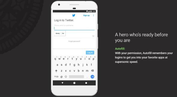Android Oreo 8.0 autofill