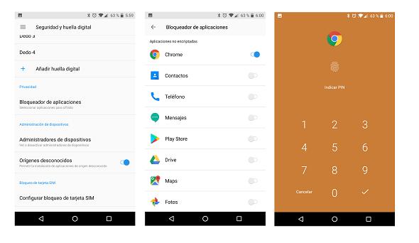 OnePlus 5 Secure Box Bloqueador de Aplicaciones 09